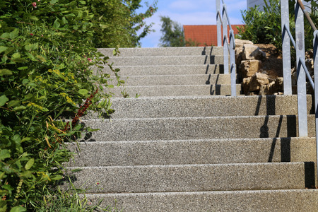 A Stairway to heaven  Steps of the stairs in the street Lizenzfreie Bilder