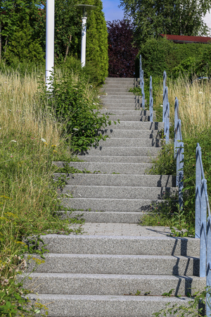 A Stairway to heaven  Steps of the stairs in the street Standard-Bild