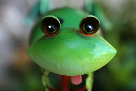 Decorative frog made of metal Stock Photo