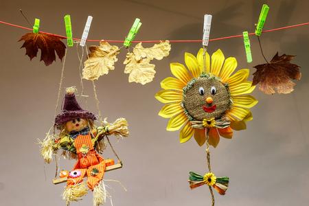 Herbststilleben Wäscheklammern