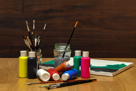 Watercolor paints Lizenzfreie Bilder