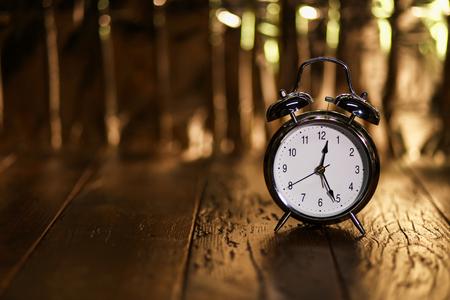 Alarm Clock  Composition with old alarm clock Standard-Bild