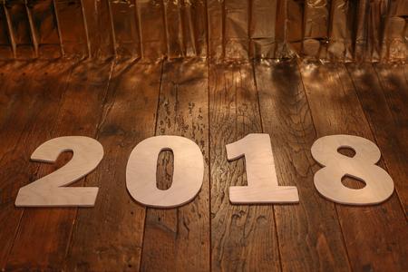 Neujahr 2018 Standard-Bild