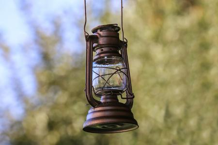 Old lamp  Old kerosene lamp Standard-Bild - 110943539