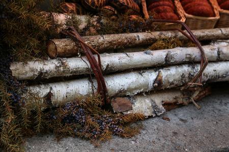 Decoration  Bundle of birch rods. Standard-Bild - 110763791