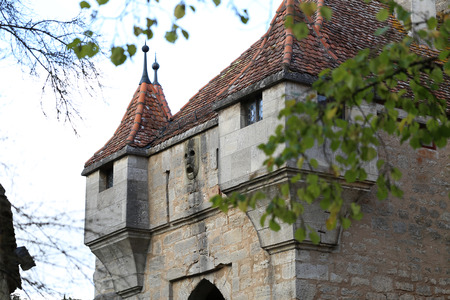 Rothenburg ob der Tauber  City fragments Standard-Bild - 110763862