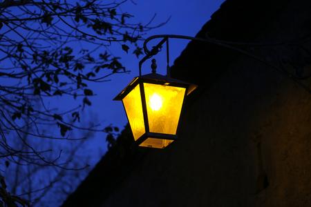 City  Street light  Vintage street lamp close-up
