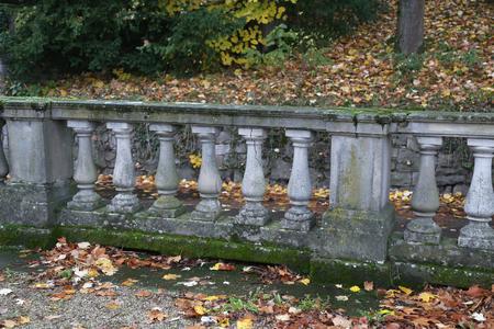 Old balustrade  Old balustrade  Details  Fragment of Architecture Standard-Bild - 110763874