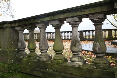 Old balustrade / Old balustrade / Details / Fragment of Architecture Standard-Bild - 111689700