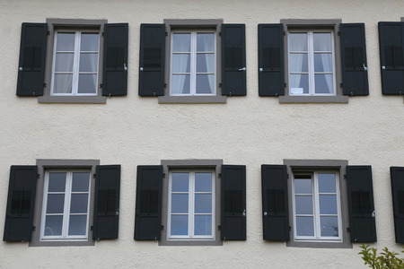 Windows in a high-rise building.