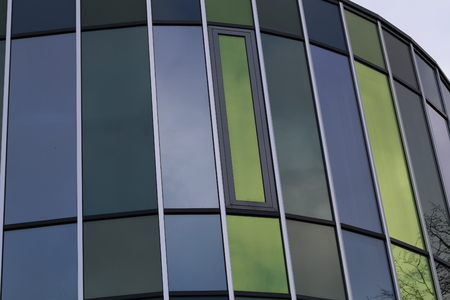 Reflection in the windows of a modern building Standard-Bild - 93127856