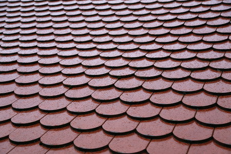 Roof tiles on the roof Background of brick wall texture