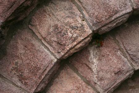 Alte Sandsteinmauer Standard-Bild - 92912402