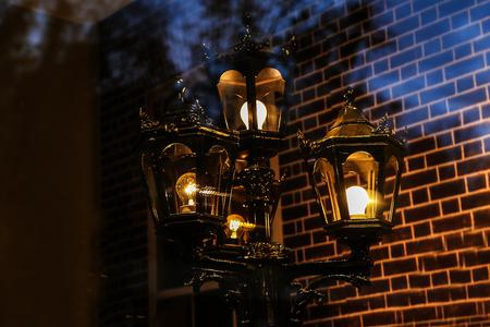 Straße Licht Vintage Straße Lampe close-up Details Standard-Bild - 92783382