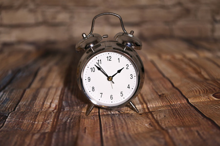 Alarm Clock  Composition with old alarm clock Stock Photo