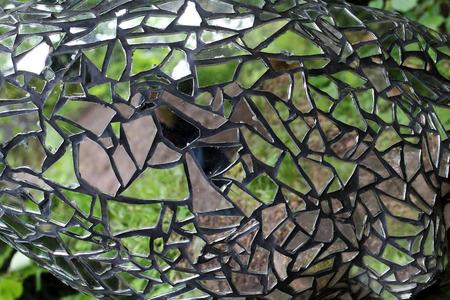 Mosaic of broken glass and mirrors Standard-Bild - 115687147
