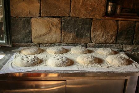 Homemade bread ready for baking