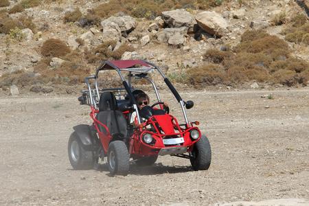 A young man controls a buggy. Standard-Bild - 115687177