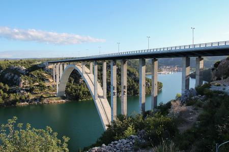 The bridge of Krka in Croatia. Standard-Bild - 115687189