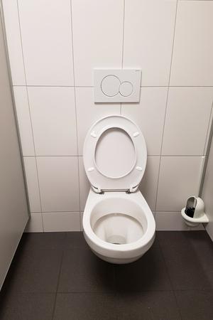 Interior of toilet room / Toilet facilities / Toilets and urinals Standard-Bild - 111689631