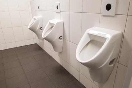 Interior of toilet room / Toilet facilities / Toilets and urinals Standard-Bild - 111689633