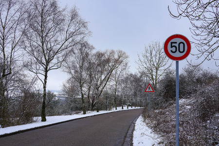 Road signs. Road signs on the street. Standard-Bild - 115687239