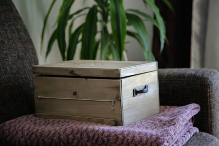 Decorative wooden box Standard-Bild - 115687039