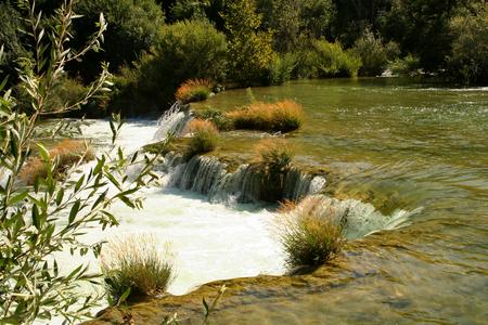 Waterfalls in Krka National Park in Croatia Standard-Bild - 115687023