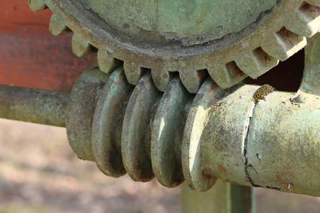 Worm-gear / Mechanical parts: gear, worm.