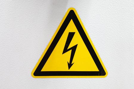 sign / high voltage sign / high voltage sign Banco de Imagens