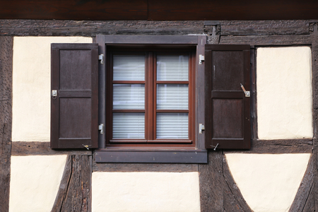 An old house / Window / Window with open shutters Banque d'images