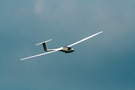 Glider against the sky