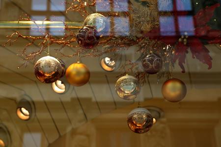 Christmas , Beautiful Christmas and New Years scene Standard-Bild - 114621187