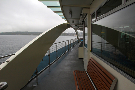 Travel by ferry on a lake in Germany. Standard-Bild - 116009690
