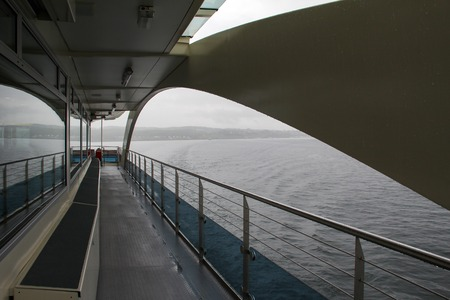 Travel by ferry on a lake in Germany. Standard-Bild - 116009691