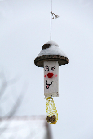 Fun bird feeder.