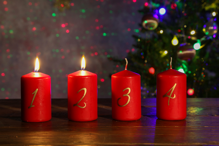 Advent is a season observed in many Western Christian churches Standard-Bild
