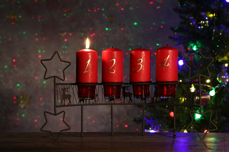 Advent is a season observed in many Western Christian churches Stock Photo