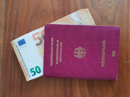 Travel. Money to leave invested in passport.