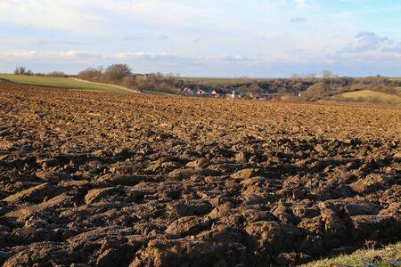 Furrow  Arable  Freshly plowed field Reklamní fotografie