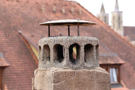 Roofs in Rothenburg ob der Tauber (Germany)