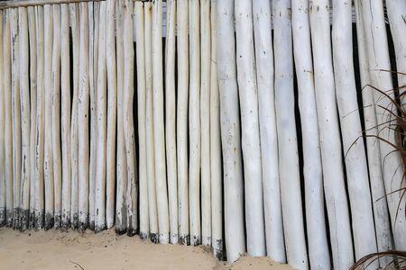White Stake Fence  Enclosure of white stakes