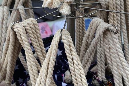 Handles of rope bags