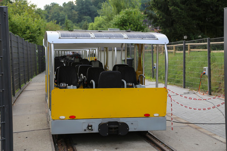 The solar powered Railcar and pedal control