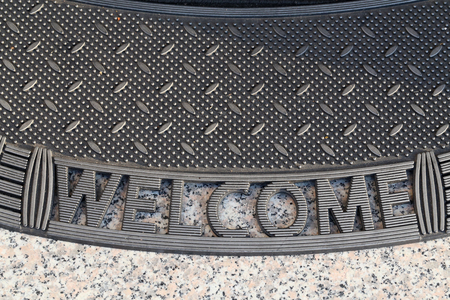 Welcome / Carpet at the entrance of the house