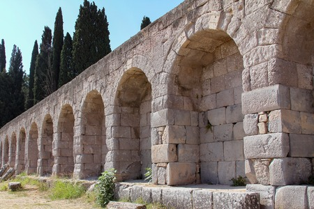 archaeological antiquity asklepion on the island of Kos in Greece