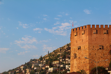 The Red Tower in Alanya in Turkey.