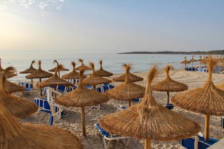 Summer view of the beach of Cala Millor, Mallorca, Spain