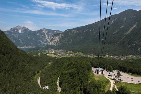 Cable car to Dachstein Glacier in Austria.