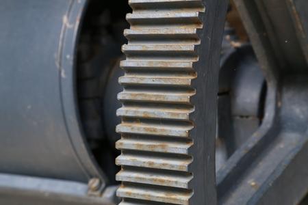 Gear transmission from metal in the old mechanism. 版權商用圖片